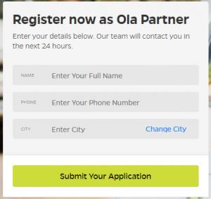 become ola partner